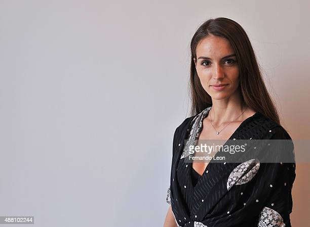 Designer Chloe Gosselin attends the Chloe Gosselin presentation during Spring 2016 New York Fashion Week at Lori Bookstein Fine Art on September 13...