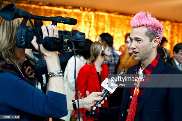 Designer Chris Benz attends the Chris Benz fall 2012 presentation during MercedesBenz Fashion Week at Avery Fisher Hall Grand Promenade on February...