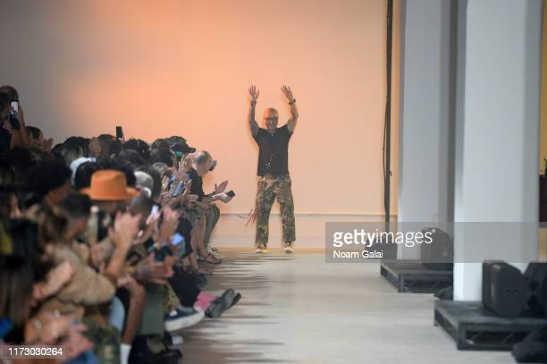 Designer Chris Leba walks the runway at the R13 fashion show during New York Fashion Week on September 07 2019 in New York City