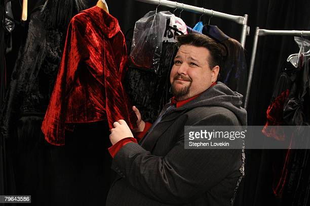 """Designer Chris March poses backstage at the """"Project Runway"""" Season 4 Fall 2008 fashion show during Mercedes-Benz Fashion Week Fall 2008 at The Tent..."""
