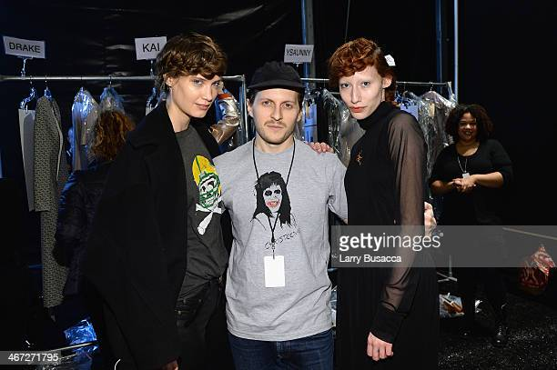 Designer Chris Peters poses backstage at Creatures Of The Wind fashion show during MercedesBenz Fashion Week Fall 2014 at The Pavilion at Lincoln...