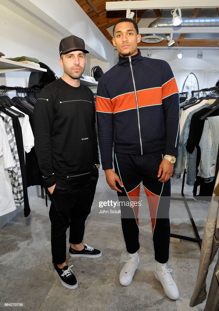 "Los Angeles Lakers Guard Jordan Clarkson and Streetwear Designer Chris Stamp Team Up for An Immersive Style Experience with Fans at Delta's ""Beyond the Court"" Event at the Stampd Store in Los Angeles"