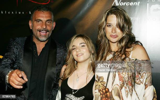 Designer Christian Audigier fiance Ira and daughter Crustal attend his Fashion Show launching Ed Hardy Vintage Tattoo Wear held in Hollywood on May...