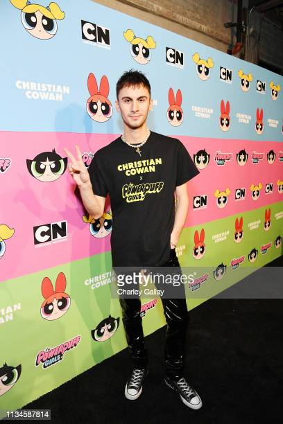 Designer Christian Cowan attends Christian Cowan x The Powerpuff Girls Runway Show at City Market Social House on March 08, 2019 in Los Angeles,...
