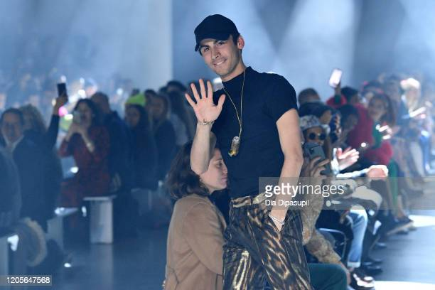 Designer Christian Cowan walks the runway for Christian Cowan Fall/Winter 2020 during New York Fashion Week: The Shows at Gallery I at Spring Studios...