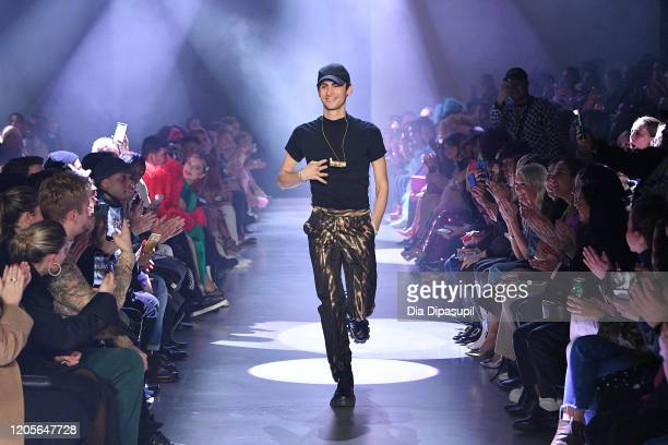 Designer Christian Cowan walks the runway for Christian Cowan Fall/Winter 2020 during New York Fashion Week The Shows at Gallery I at Spring Studios...