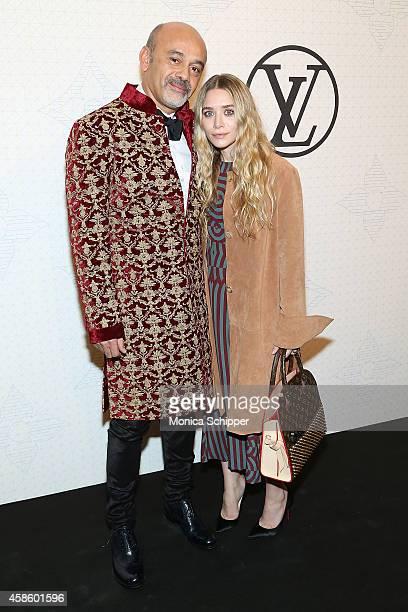 Designer Christian Louboutin and Ashley Olsen attend the Louis Vuitton Monogram Celebration at Museum of Modern Art on November 7 2014 in New York...