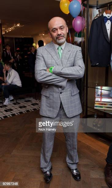 Designer Christian Louboutin attend the Lanvin Party to celebrate the release of Mika's EP 'Songs Of Sorrow' on November 11 2009 in London England