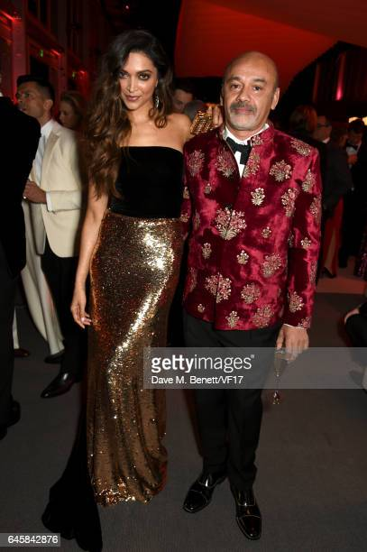 Designer Christian Louboutin attends the 2017 Vanity Fair Oscar Party hosted by Graydon Carter at Wallis Annenberg Center for the Performing Arts on...