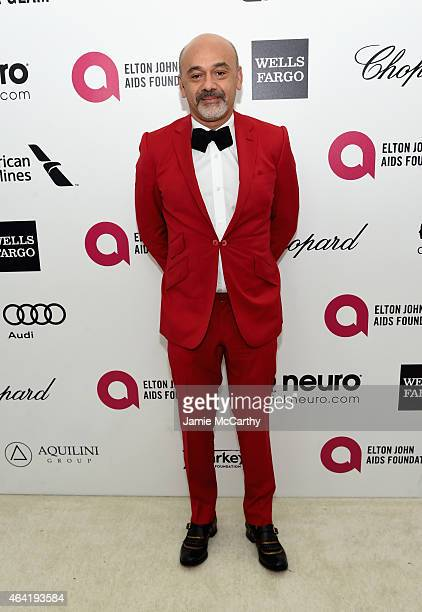 Designer Christian Louboutin attends the 23rd Annual Elton John AIDS Foundation Academy Awards Viewing Party on February 22 2015 in Los Angeles...