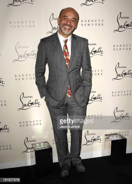 Designer Christian Louboutin attends the Christian Louboutin book launch party at Barney's New York on November 3 2011 in Beverly Hills California