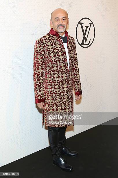 Designer Christian Louboutin attends the Louis Vuitton Monogram Celebration at Museum of Modern Art on November 7 2014 in New York City
