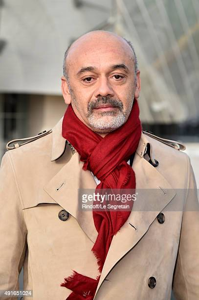 Designer Christian Louboutin attends the Louis Vuitton show as part of the Paris Fashion Week Womenswear Spring/Summer 2016 on October 7 2015 in...