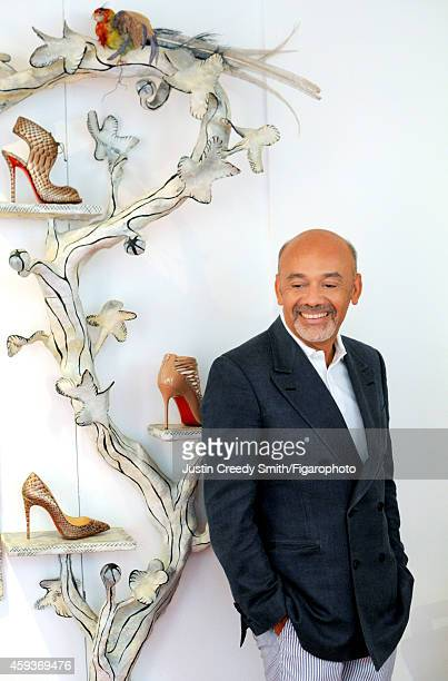 Designer Christian Louboutin is photographed for Madame Figaro on September 10 2014 in Paris France CREDIT MUST READ Justin Creedy...