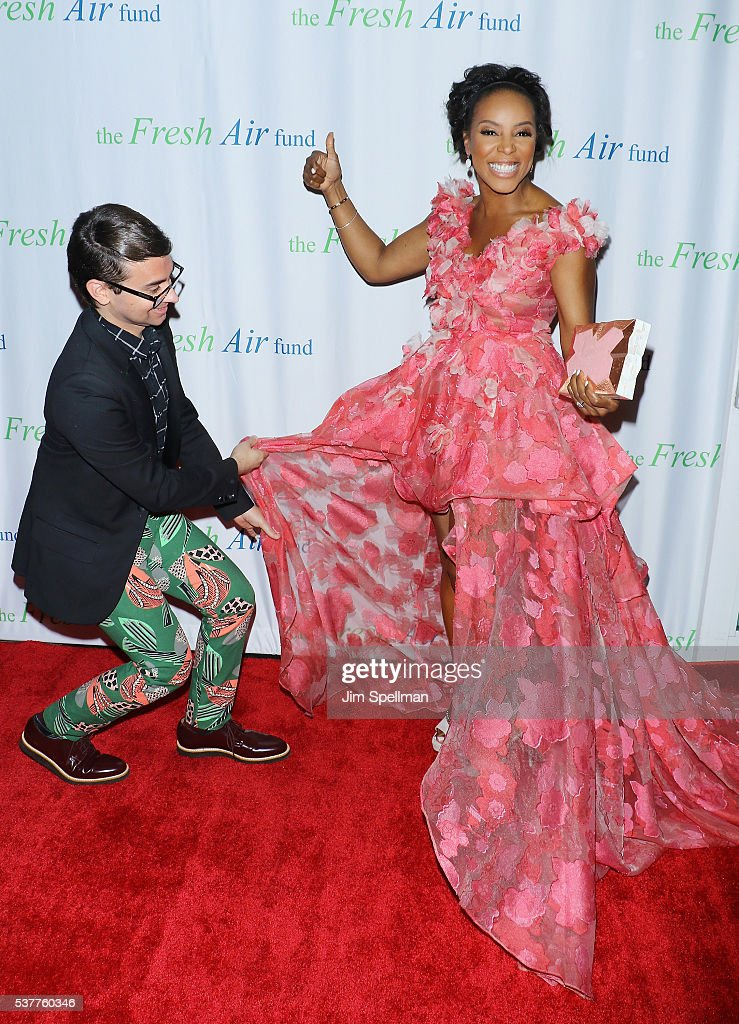 Designer Christian Siriano and fashion stylist June Ambrose attend the Fresh Air Fund 140th Birthday Celebration and 2016 Spring Benefit at Pier Sixty at Chelsea Piers on June 2, 2016 in New York City.