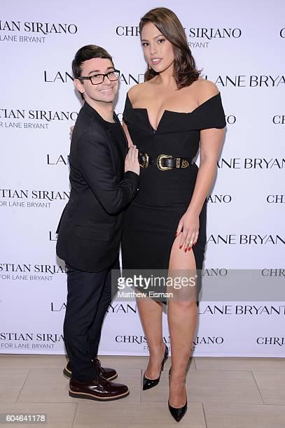 Designer Christian Siriano and model Ashley Graham attend Christian Siriano x Lane Bryant PA on September 13 2016 in New York City