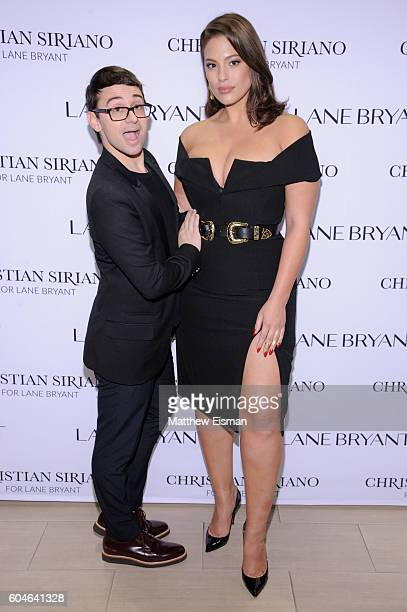 Designer Christian Siriano and model Ashley Graham attend Christian Siriano x Lane Bryant PA on September 13 2016 in New York City