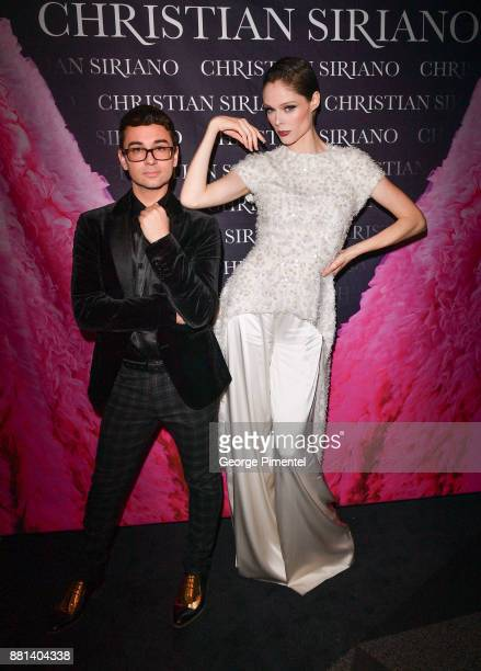 Designer Christian Siriano and Model Coco Rocha attends Christian Siriano Canadian Book Launch held at Bisha Hotel Residences on November 28 2017 in...