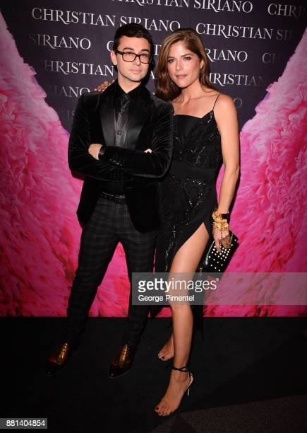 Designer Christian Siriano and Selma Blair attend Christian Siriano Canadian Book Launch held at Bisha Hotel Residences on November 28 2017 in...