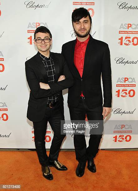 Designer Christian Siriano and singer Brad Walsh attend the 19th Annual ASPCA Bergh Ball at The Plaza Hotel on April 14 2016 in New York City
