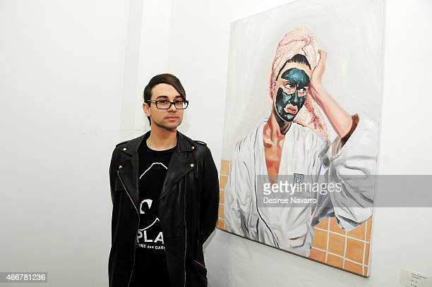 Designer Christian Siriano attends Tali Lennox Exhibition Opening Reception at Catherine Ahnell Gallery on March 18, 2015 in New York City.