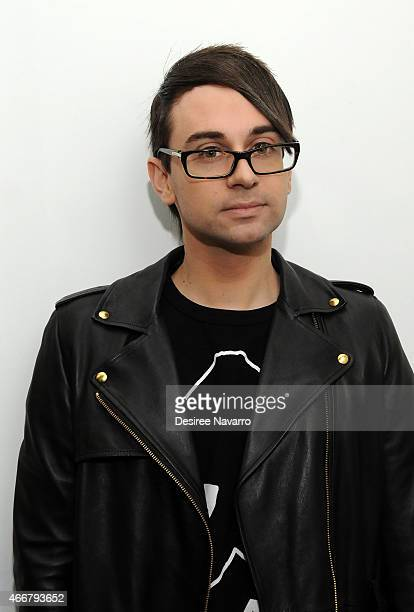 Designer Christian Siriano attends Tali Lennox Exhibition Opening Reception at Catherine Ahnell Gallery on March 18 2015 in New York City