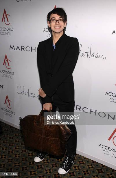 Designer Christian Siriano attends the 13th Annual 2009 ACE Awards presented by the Accessories Council at Cipriani 42nd Street on November 2 2009 in...