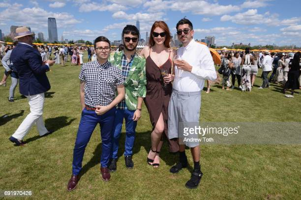 Designer Christian Siriano Brad Walsh model Katy Lyme and guest attend The Tenth Annual Veuve Clicquot Polo Classic at Liberty State Park on June 3...