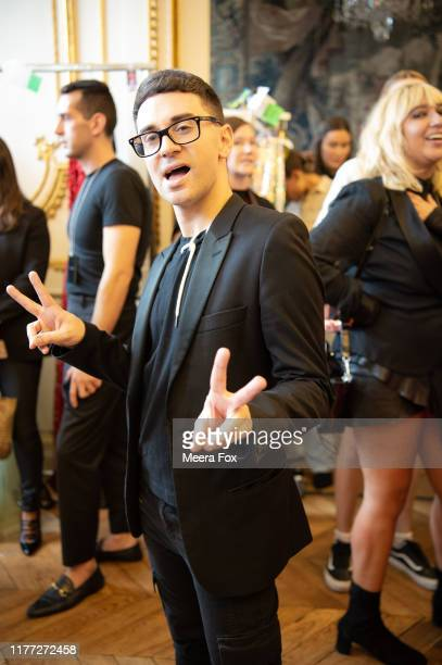 Designer Christian Siriano poses for a portrait at the Christian Siriano Womenswear Spring/Summer 2020 show as part of Paris Fashion Week on...