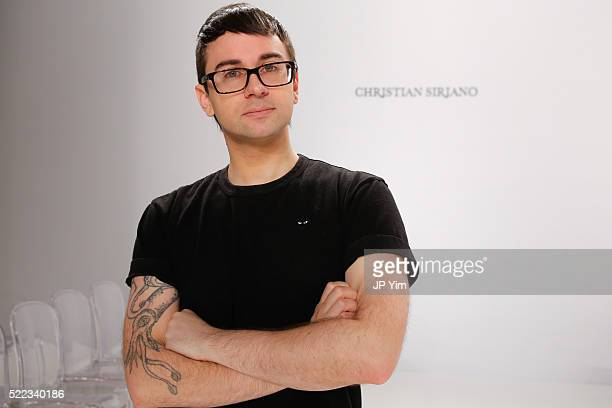 Designer Christian Siriano poses on the runway before his Christian Siriano For Kleinfeld Spring/Summer 2017 Bridal Collection at Kleinfeld on April...