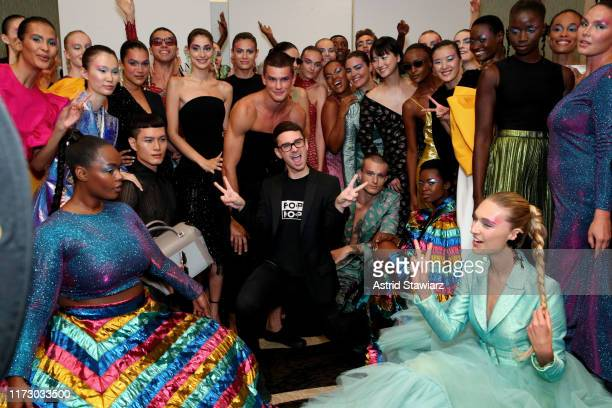 Designer Christian Siriano poses with models backstage for TRESemme at Christian Siriano for NYFW on September 07 2019 in New York City