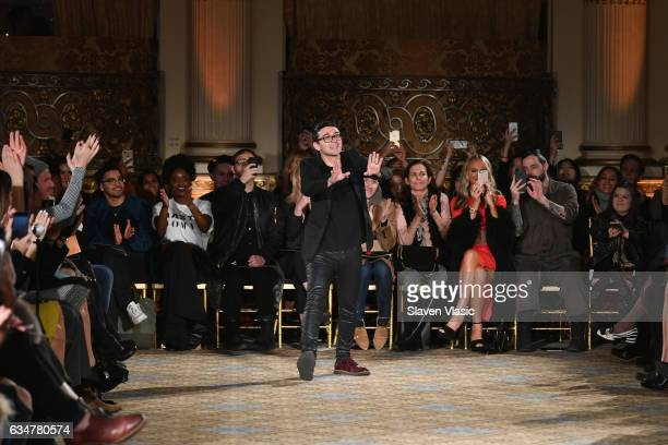 Designer Christian Siriano takes a bow on the runway after the Christian Siriano collection during New York Fashion Week The Shows at The Plaza Hotel...
