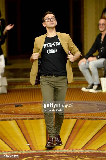 Designer Christian Siriano walks the runway at Christian Siriano Runway during New York Fashion Week The Shows on September 8 2018 in New York City