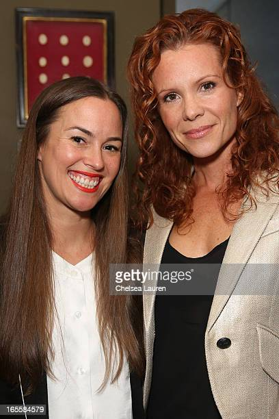 Designer Christie Smythe and actress Robyn Lively wearing SMYTHE attend the SMYTHE Spring 2013 Dinner Hosted By Designers Andrea Lenczner And...
