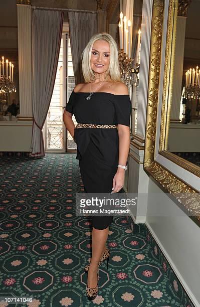 Designer Christina Duxa attends the Christina Duxa Couture Ladies Lunch at Hotel Bayerischer Hof on November 25 2010 in Munich Germany