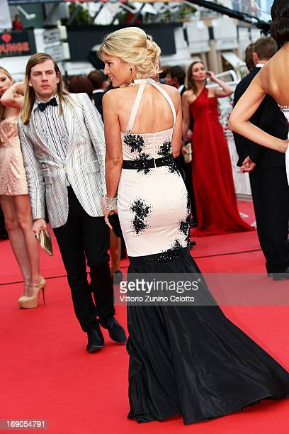 Designer Christophe Guillarme and Hofit Golan attend 'Inside Llewyn Davis' Premiere during the 66th Annual Cannes Film Festival at Palais des...
