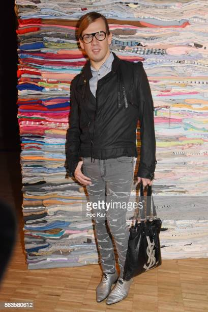 Designer Christophe Guillarme attends Diesel and Technikart Party at Carreau du Temple on October 19 2017 in Paris France