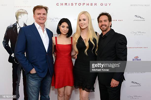 Designer Christopher Guy Sakiko Yamada Ariane Sommer and Clay Kahler attend the BritWeek Christopher Guy event with official vehicle sponsor Jaguar...