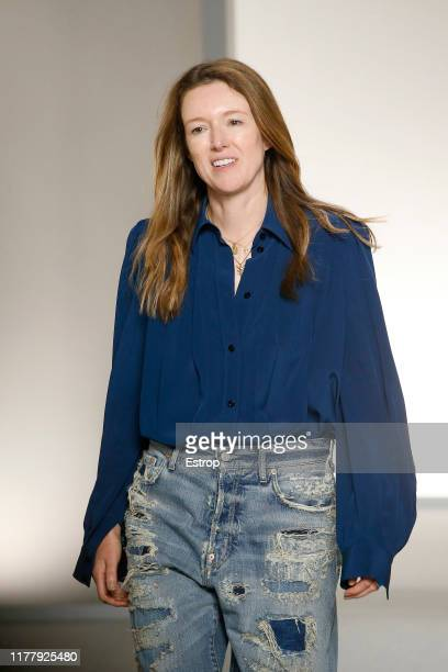 Designer Clare Waight Keller during the Givenchy Womenswear Spring/Summer 2020 show as part of Paris Fashion Week on September 29, 2019 in Paris,...