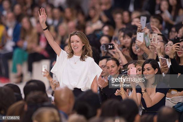 Designer Clare Waight Keller is seen on the runway during the Chloe show as part of the Paris Fashion Week Womenswear Spring/Summer 2017 on September...