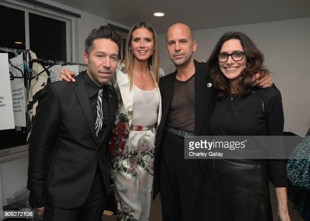 Designer Claude Morais Heidi Klum and designer Brian Wolk and stylist Elizabeth Stewart attend the Wolk Morais Collection 6 Fashion Show at The...