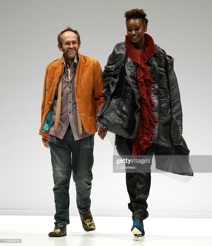Designer Clive Rundle And A Model Take A Bow During The Clive Rundle News Photo Getty Images