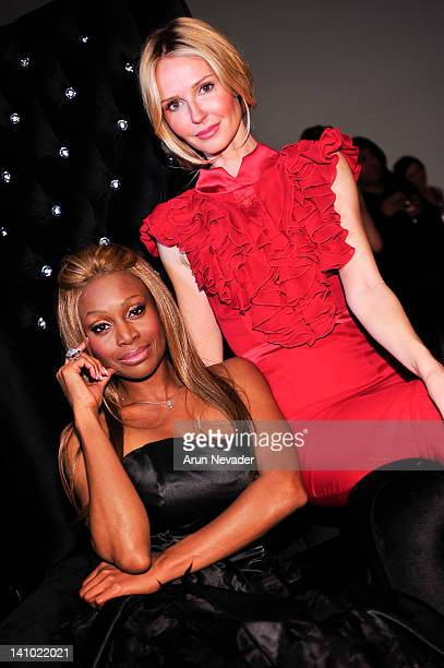 Designer Coco Johnsen and actor Vanessa Branch attend Meet The Designer and the Muse at Ace Gallery on March 8 2012 in Los Angeles California