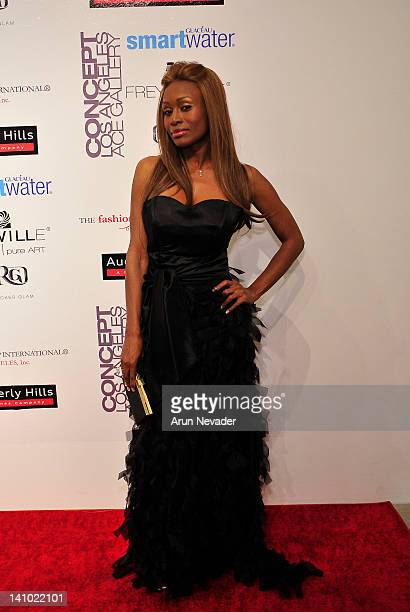 Designer Coco Johnsen appears on the red carpet at Meet The Designer and the Muse at Ace Gallery on March 8 2012 in Los Angeles California