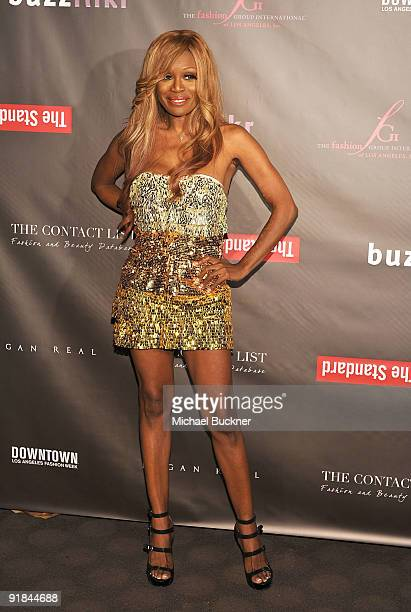 Designer Coco Johnsen arrives at Fashion Group International of Los Angeles' Meet The Designers at the Standard Hotel on October 12 2009 in Los...
