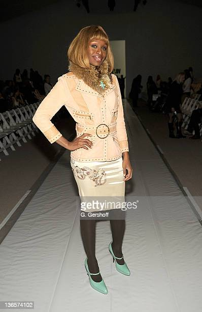 Designer CoCo Johnsen attends Terexov Fall 2009 during MercedesBenz Fashion Week at The Promenade at Bryant Park on February 16 2009 in New York City
