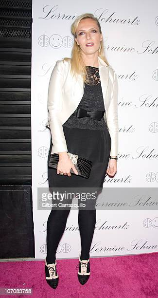 "Designer/ co-founder of Marchesa, Keren Craig attends the launch of Lorraine Schwartz's ""2BHAPPY"" jewelry collection at Lavo NYC on November 22, 2010..."