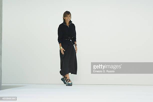 Designer Consuelo Castiglioni attends the Marni Show as part of Milan Fashion Week Womenswear Spring/Summer 2015 on September 21, 2014 in Milan,...