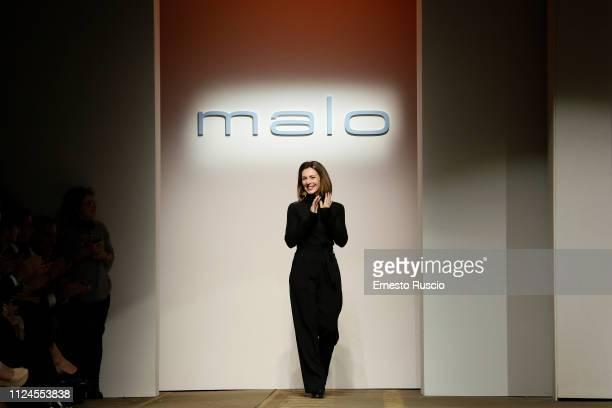 Designer Consuelo Castiglioni is seen at Malo presentation during Altaroma on January 24, 2019 in Rome, Italy.