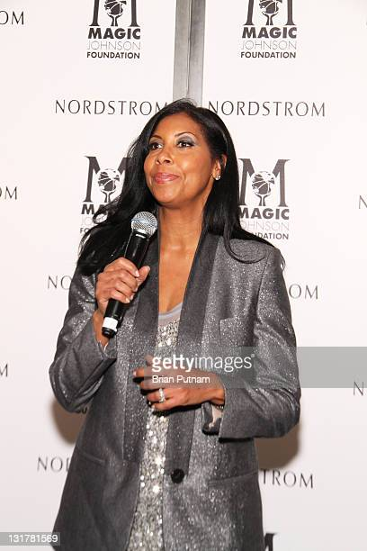 Designer Cookie Johnson attends NBA AllStar Kickoff Private Shopping Benefit at Nordstrom at the Grove on February 18 2011 in Los Angeles California